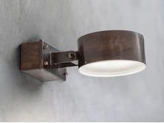 Faretto per esterno a LED da parete orientabile in ottoneACELUM | Faretto per esterno - ALDO BERNARDI