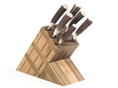 Ceppo coltelli in rovereACGKHCU010RO | Ceppo coltelli in rovere - OFFICINE GULLO