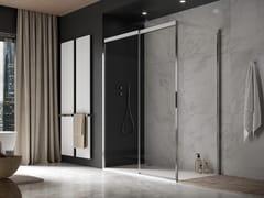 Box doccia angolare rettangolare in alluminio e vetro con porta scorrevoleACQUA 5000 NEW   Box doccia rettangolare - DUKA
