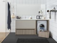 Mobile lavanderia componibile con lavatoioACQUA E SAPONE BATH | Mobile lavanderia con lavatoio - BIREX