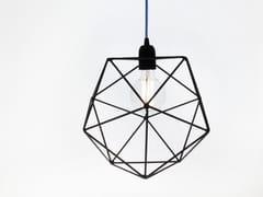 Lampada a sospensione a luce diretta incandescente in ferro ACQUA | Lampada a sospensione in ferro - Acqua