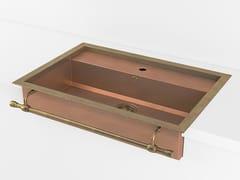 Lavello a semincasso a una vasca in metalloACSSEMA00 | Lavello a una vasca - OFFICINE GULLO