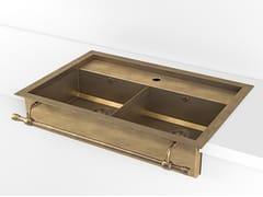 Lavello a 2 vasche a semincasso in metalloACSSEMADI | Lavello a 2 vasche - OFFICINE GULLO