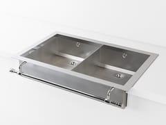 Lavello a 2 vasche a semincasso in metalloACSSEMBDI | Lavello a 2 vasche - OFFICINE GULLO