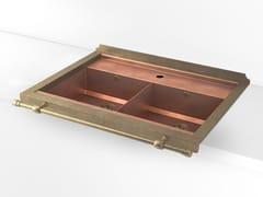 Lavello a 2 vasche da incasso in metalloACSSETADI | Lavello a 2 vasche - OFFICINE GULLO