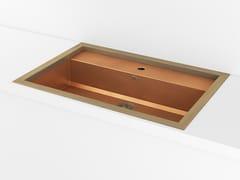 Lavello a una vasca da incasso in metalloACSTOPA00 | Lavello a una vasca - OFFICINE GULLO