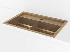 Lavello a 2 vasche da incasso in metalloACSTOPADI | Lavello a 2 vasche - OFFICINE GULLO
