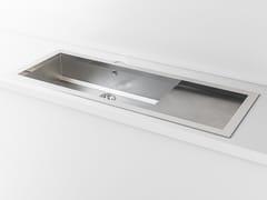Lavello a una vasca da incasso in metallo con gocciolatoioACSTOPBPL | Lavello con gocciolatoio - OFFICINE GULLO