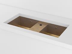 Lavello a 2 vasche da incasso sottotop in metalloACSUNDBBR | Lavello sottotop - OFFICINE GULLO