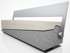 Panchina in pietra ricostruita con schienale ACTEA | Panchina con schienale - Actea