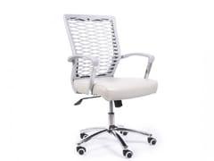 Sedia ufficio ad altezza regolabile in ecopelle con braccioliACTIVE | Sedia ufficio con ruote - ARREDIORG
