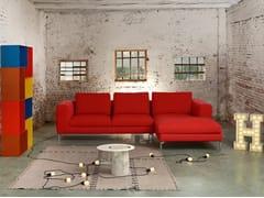 Divano sfoderabile in tessuto con chaise longue ADAM | Divano in tessuto -