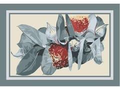 Tappeto a fiori rettangolare in lanaADINA FRAME - BLOSS