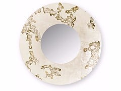 Specchio rotondo da parete con cornice AFRICA FLOWING | Specchio rotondo -