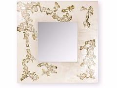 Specchio quadrato da parete con cornice AFRICA FLOWING | Specchio quadrato -