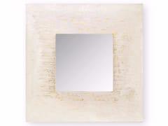 Specchio quadrato a parete con cornice AFRICA GOLDEN CITY | Specchio quadrato -