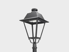 Cariboni group, AGATHOS TESTA PALO Lampione stradale a lanterna a LED in alluminio