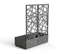 Fioriera modulare in gres porcellanato con grigliatoAIOLA | Fioriera con grigliato - MODULARTE