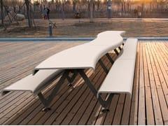 Tavolo da picnic in UHPC con panchine integrateAIR - CS - METALCO