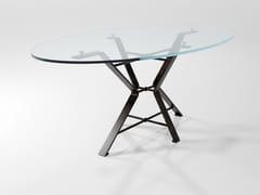 Tavolo da pranzo ovale in cristalloAIX | Tavolo in cristallo - BAREL