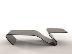 Tavolino basso in vetro con portarivisteALARIC - TONIN CASA