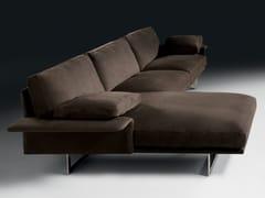 Divano componibile in tessuto con chaise longueALATO | Divano con chaise longue - BLACK TIE