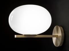 Lampada da parete in ottone e vetroALBA - 176 - OLUCE
