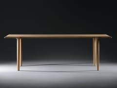 Tavolo da pranzo rettangolare in legno masselloALBA - ARTISAN