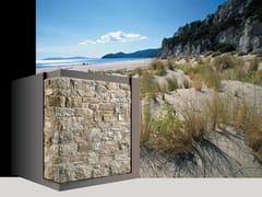 Rivestimento di facciata in pietra ricostruita ALBERESE P88 - Profilo SQUADRATO