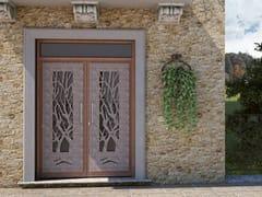 Porta d'ingresso in acciaio per esternoALBERI - FABBRIDEA