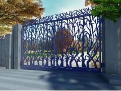 Cancello a doppio battente in ferroALBERI 2655 - FABBRIDEA