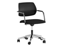 Sedia ufficio ad altezza regolabile in tessuto a 5 razze con braccioliALEGRIA | Sedia a 5 razze - ERSA MOBILYA