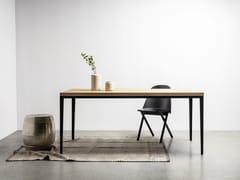 Tavolo rettangolare in acciaio e legnoALEX - HOOM