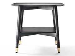 Tavolino / comodino in frassino ed MDFALFIO - BLACK TIE