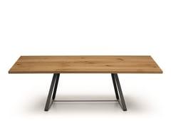 Tavolo rettangolare in legno masselloALFRED | Tavolo in legno - MIDJ
