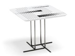 Tavolino quadrato in MDF e metalloALIBI - ARKETIPO