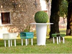 GARDA DESIGN, ALICE Fioriera per spazi pubblici / tavolo per spazi pubblici in lamiera