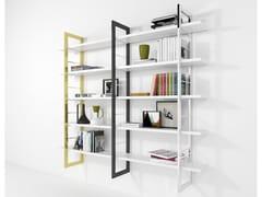 Libreria a parete in legno laccato e ferroALICE | Libreria laccata - BAREL