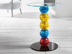 Tavolino di servizio fatto a mano in vetro ALICE -