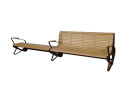 Euroform W, ALLDOUBLE Panchina in legno con braccioli