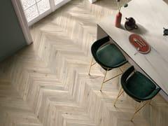 Pavimento/rivestimento in gres porcellanato effetto legnoALLURE ROVERE AMANDE - ITALGRANITI