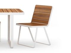 Sedia da giardino in alluminio e legno MAKEMAKE | Sedia in alluminio e legno - Makemake
