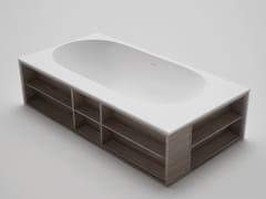 Vasca da bagno centro stanza in blu·stone™AMANPURI•7 - BLU BATHWORKS®