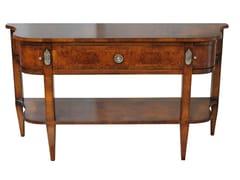 Consolle a mezzaluna in legno con cassetti e ripianoAMELIA - FABER MOBILI