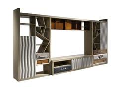 Mobile TV in legno con libreriaAMORE - LOLA GLAMOUR