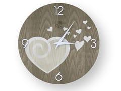 Orologio da parete in legno intarsiatoAMOUR COLD | Orologio - LEONARDO TRADE