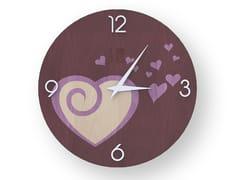 Orologio da parete in legno intarsiato AMOUR COLORS | Orologio - DOLCEVITA LOVE