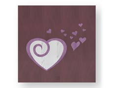 Quadro in legno intarsiato AMOUR COLORS - DOLCEVITA LOVE