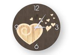 Orologio da parete in legno intarsiato AMOUR WARM | Orologio - DOLCEVITA LOVE