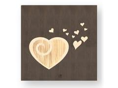 Quadro in legno intarsiato AMOUR WARM - DOLCEVITA LOVE